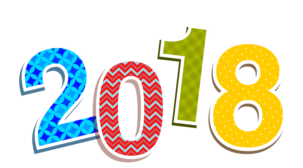 2018 Colorful PNG Image