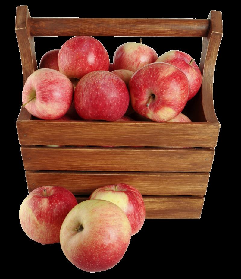 Apple in Basket PNG Image