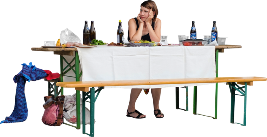 At A Barbecue Party PNG Image