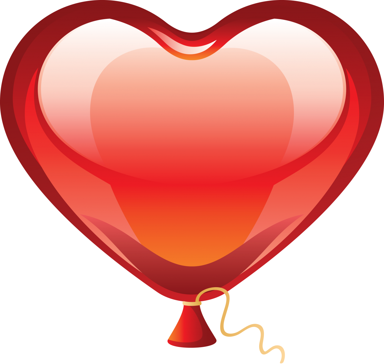Valentine Heart Balloon PNG Image