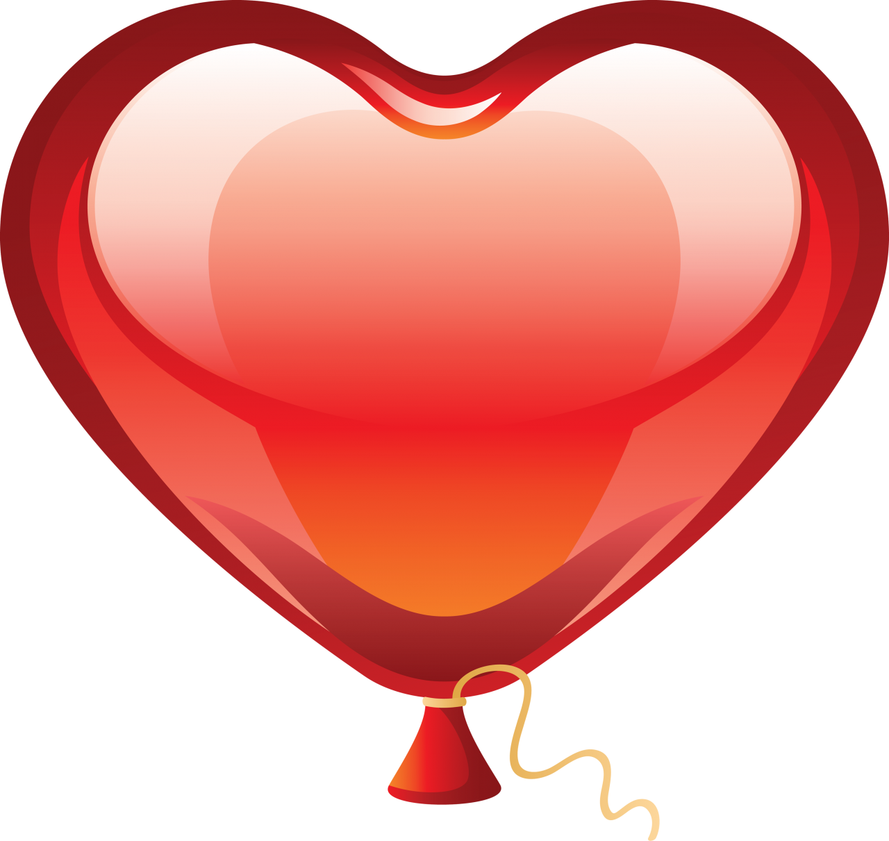 Heart Love Balloon PNG Image