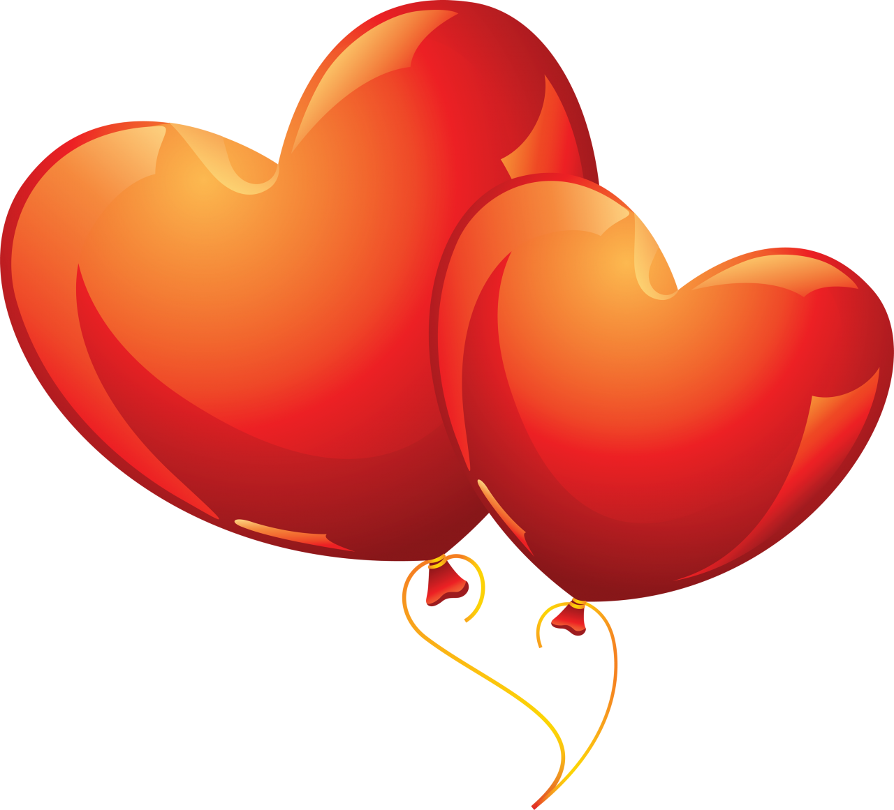 Heart Shaped Love Balloons PNG Image
