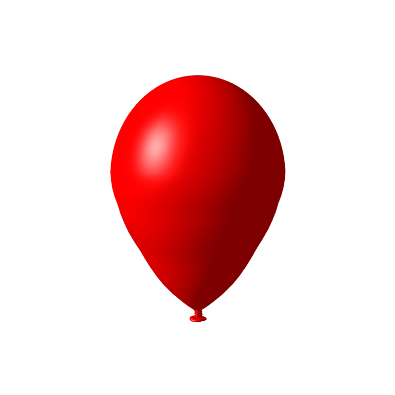 Red Balloon Decorative PNG Image
