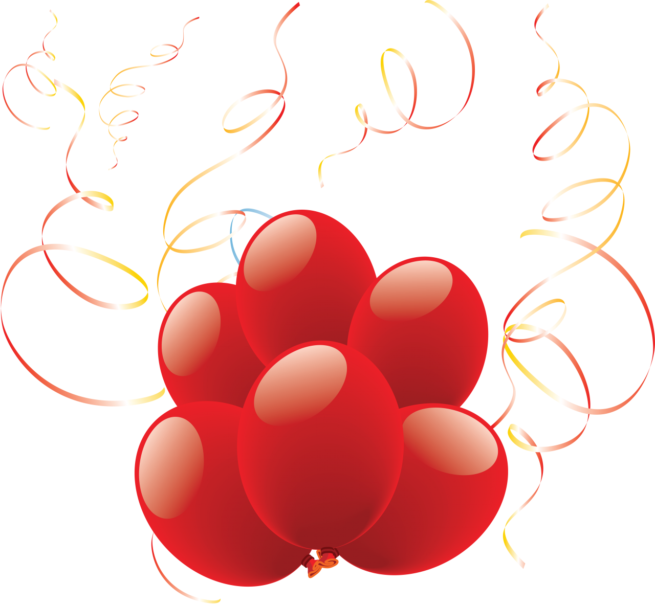 Lovely Heart Balloons PNG Image