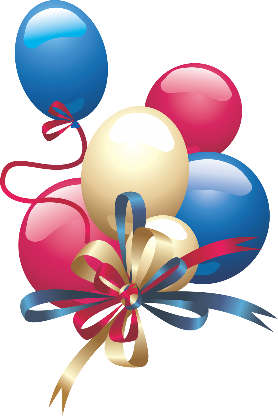 Party Festive Balloons PNG Image