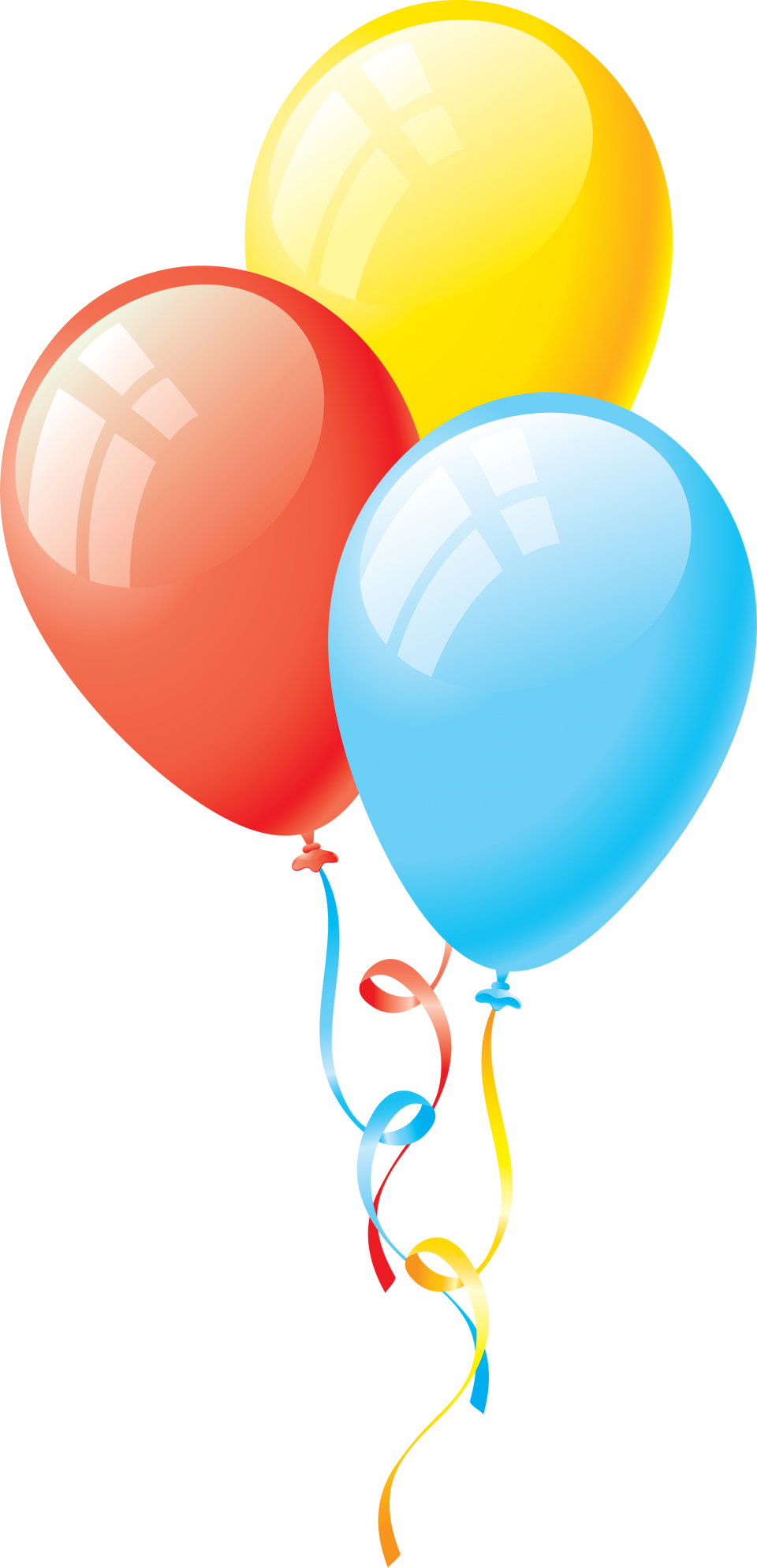 Celebrative Birthday Balloons PNG Image