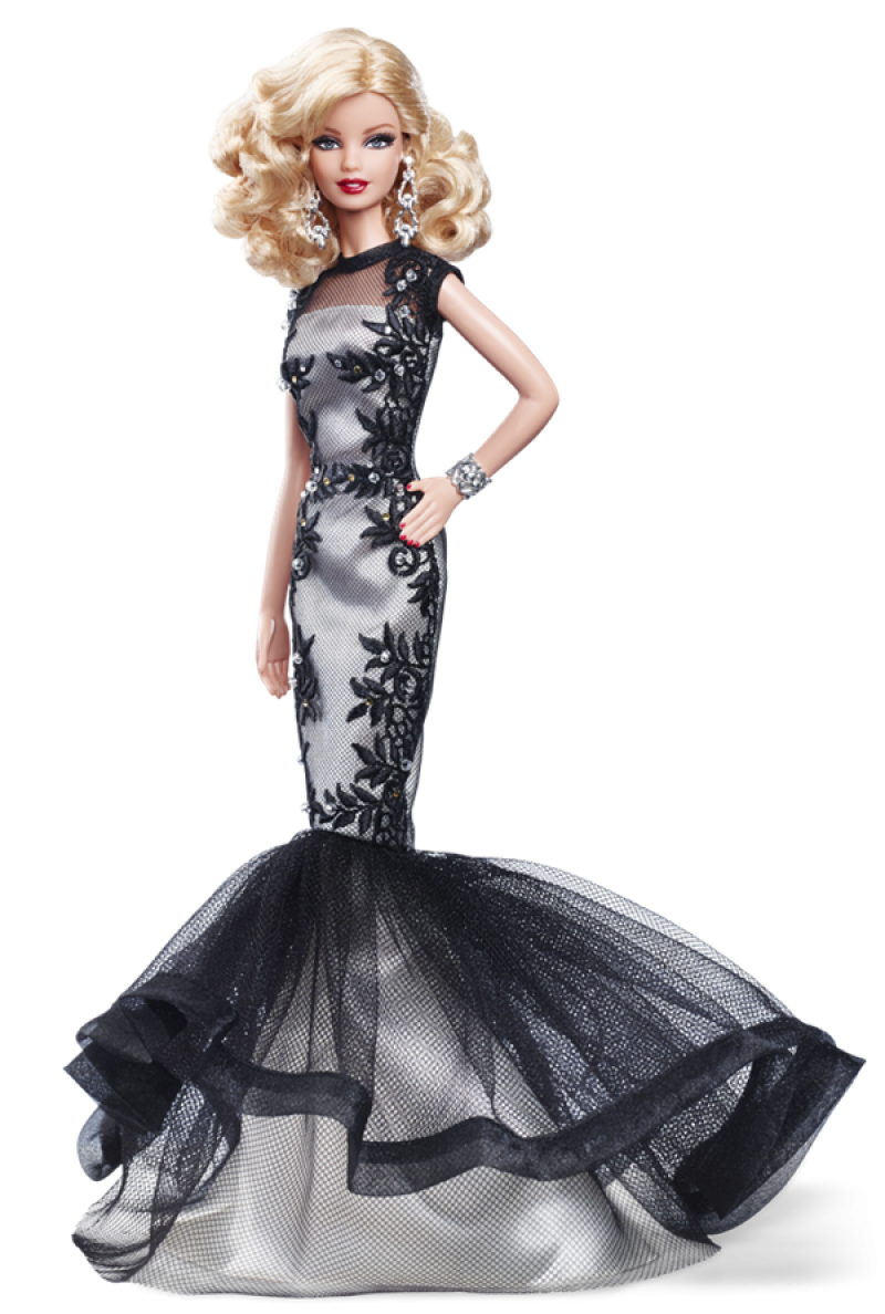 Barbie  Doll Evening Gown PNG Image