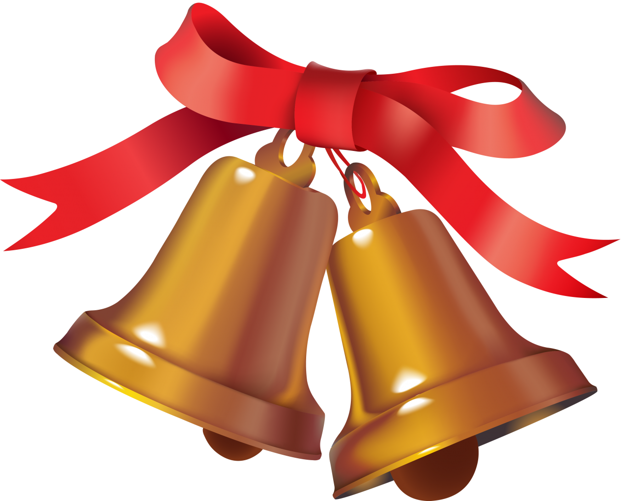 Ringing Christmas Bell PNG Image
