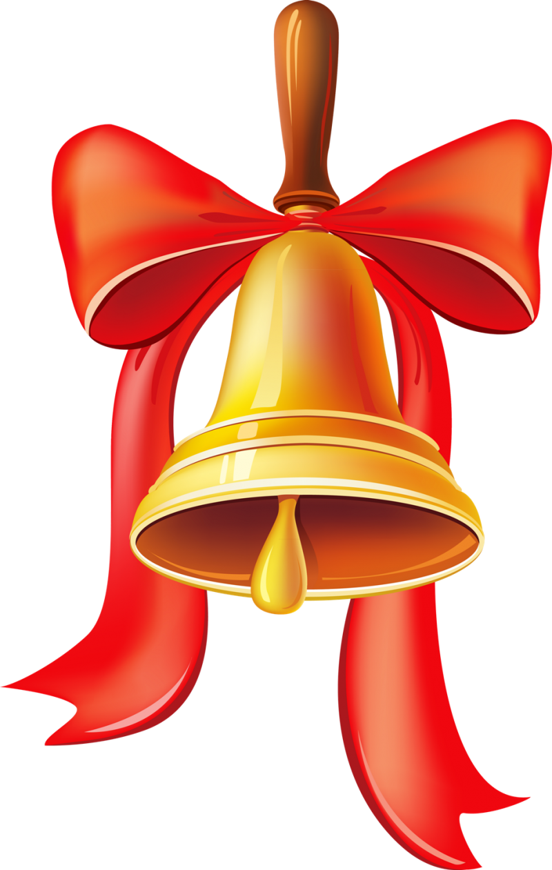 Christmas Bell with Big Ribbons PNG Image