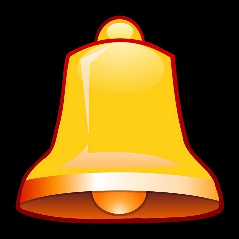 Bell Golden PNG Image