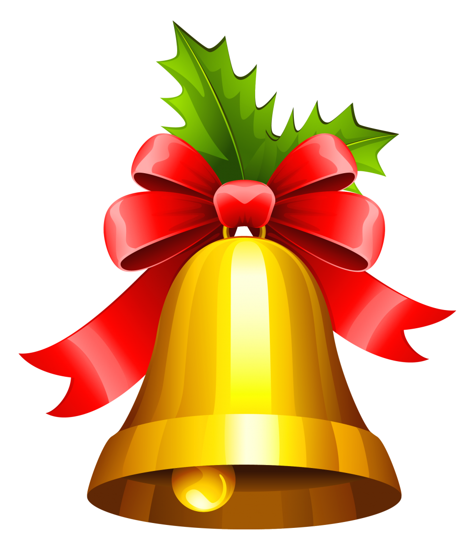 Traditional Christmas Bell PNG Image