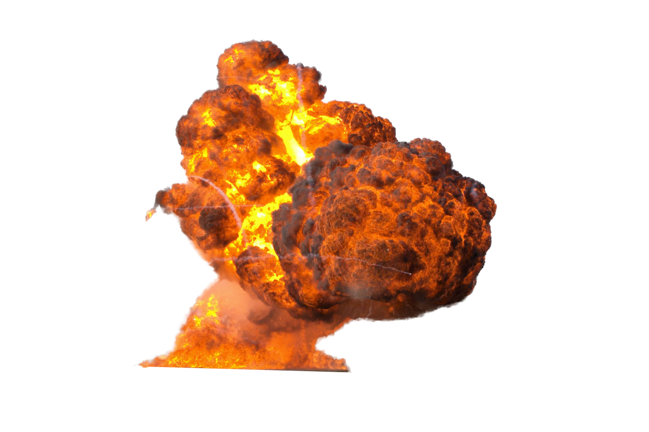 Big Fire Explosion PNG Image