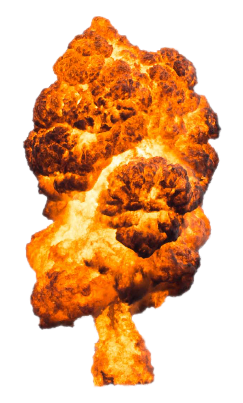 Big Explosion Exploded PNG Image