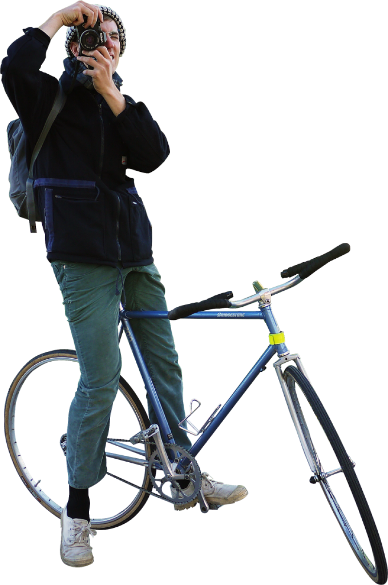 Biking Photograpfer PNG Image