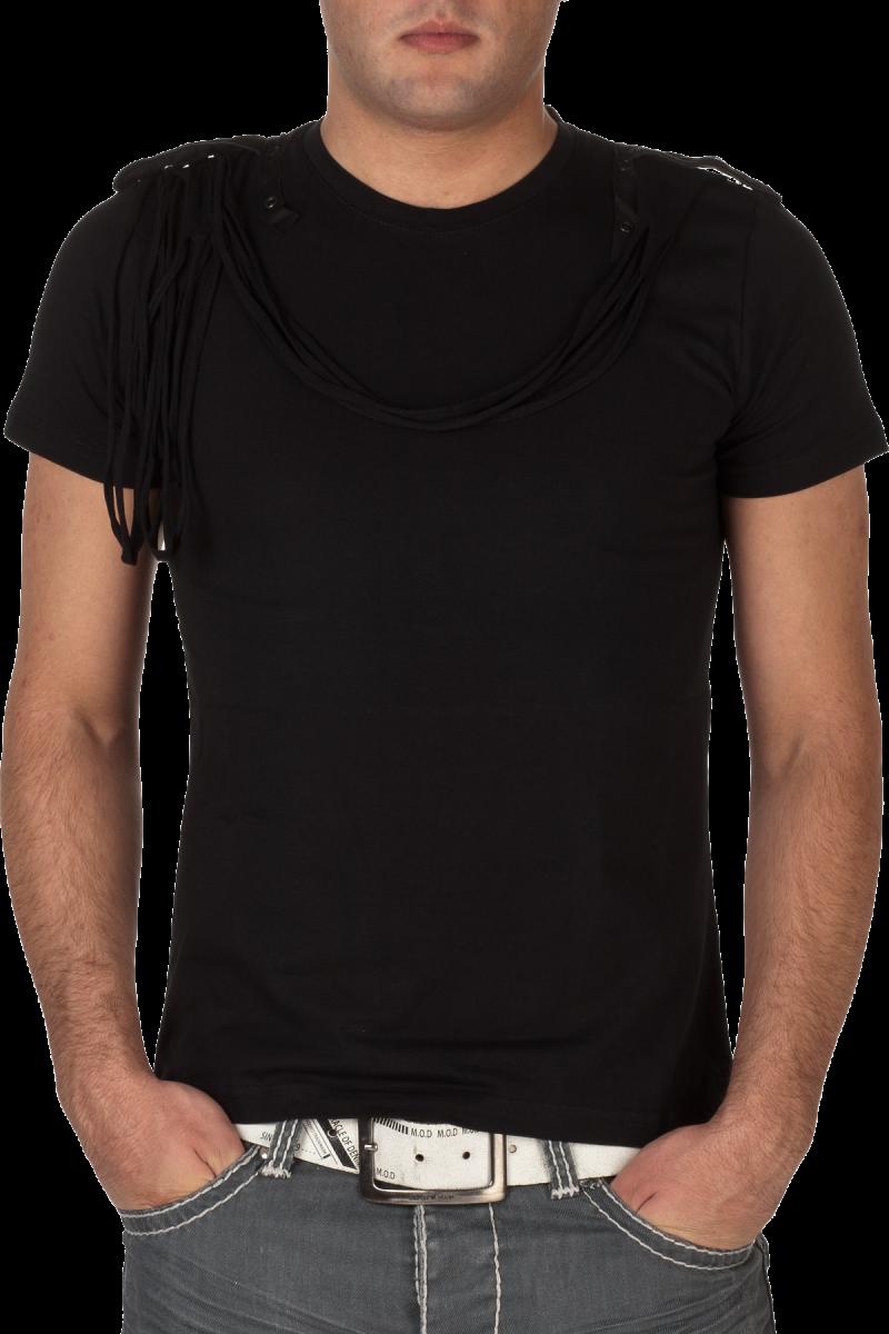 Black Men's Polo Shirt PNG Image