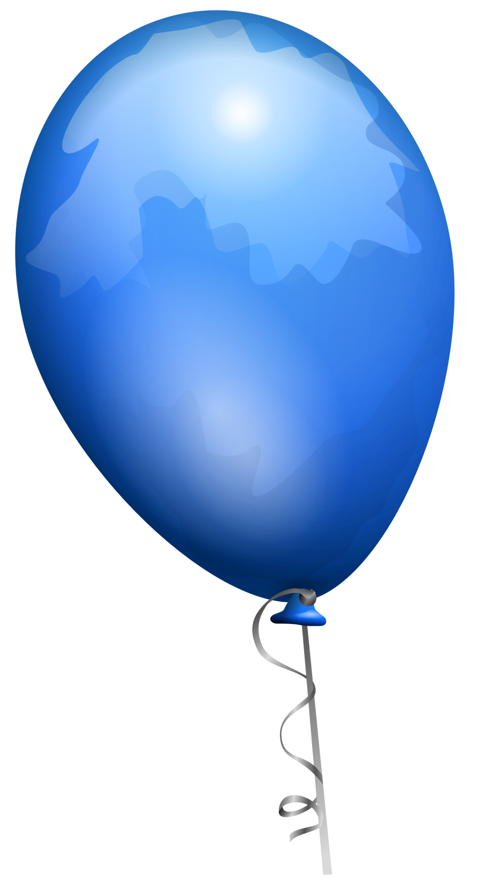 Blue Party Balloon PNG Image