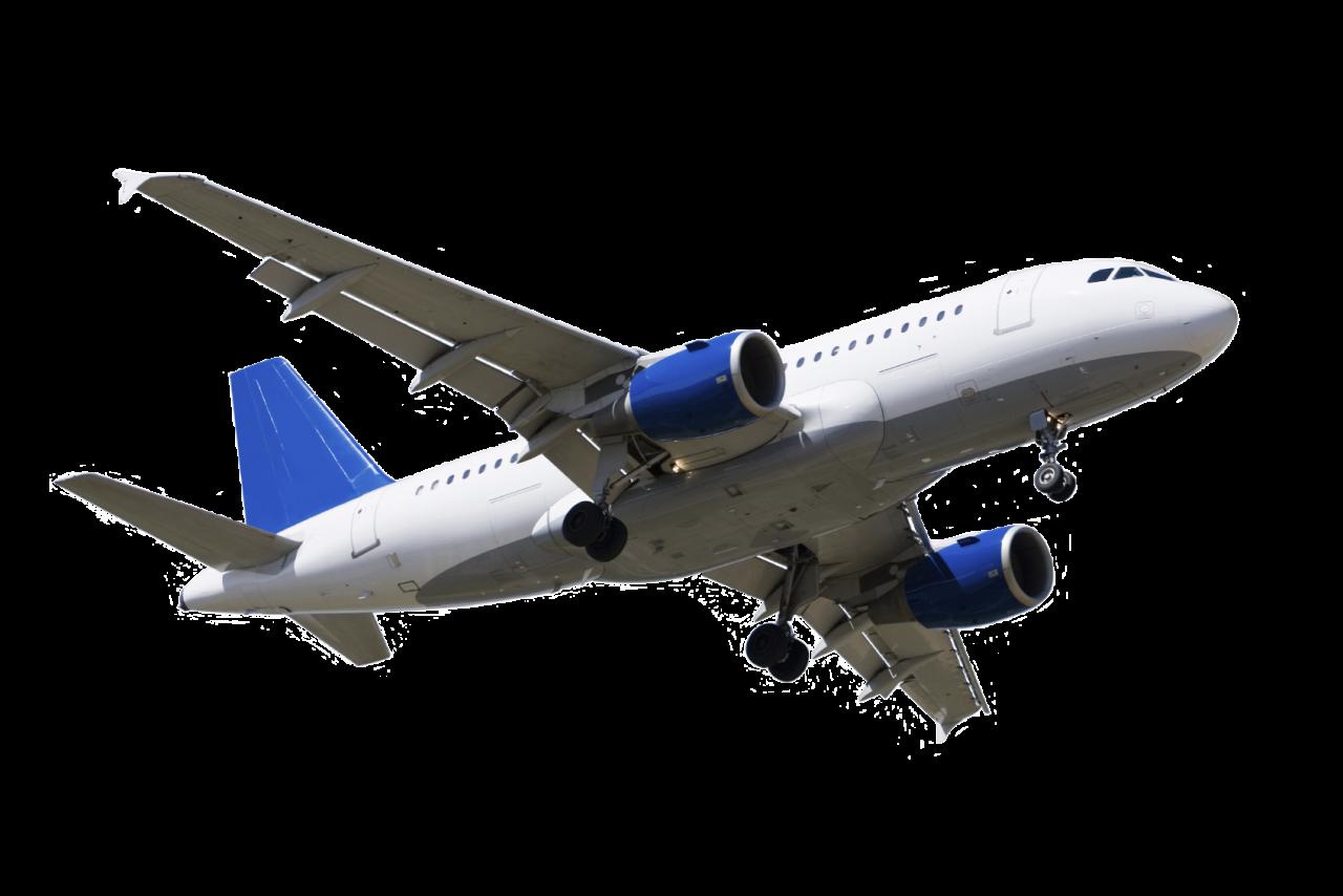Blue Plane PNG Image