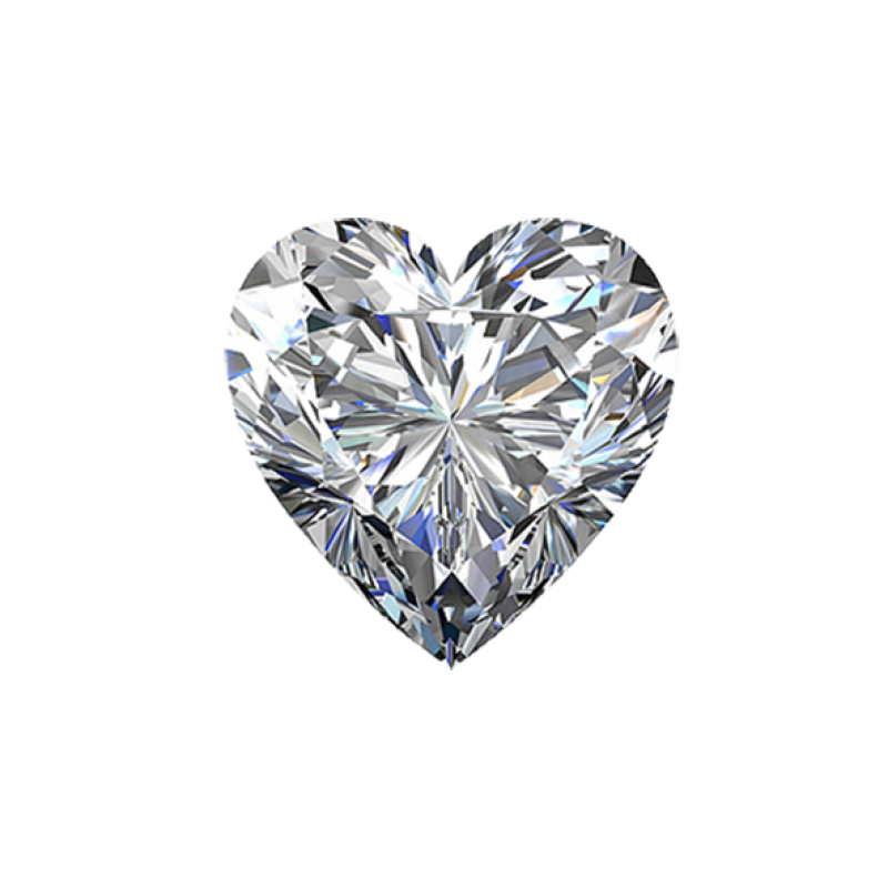 Brilliant Diamond Love Shaped PNG Image