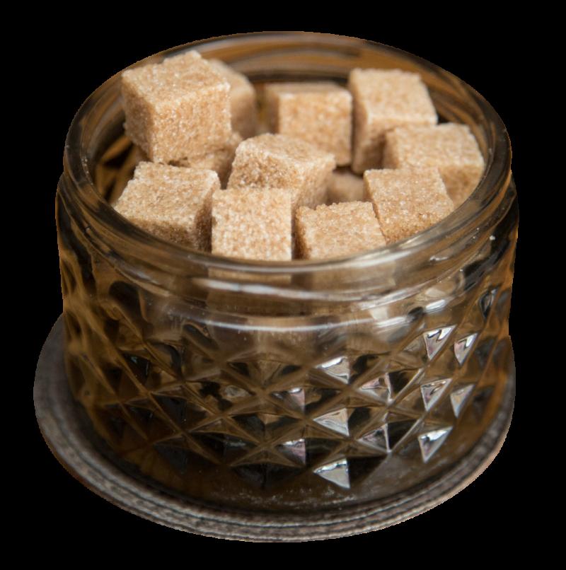 Brown Cane Sugar Cubes PNG Image