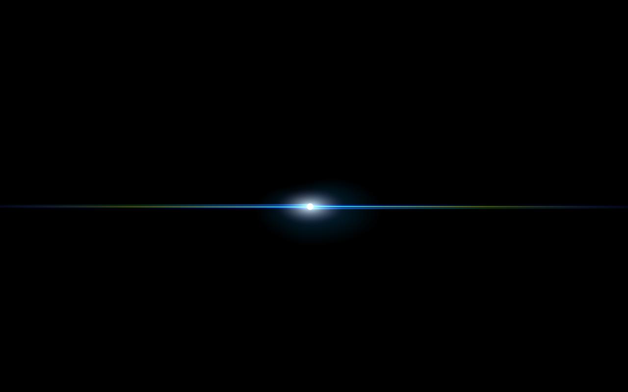 Centered Blue Lens Flare PNG Image
