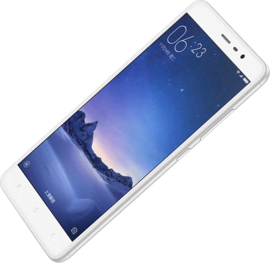 Chinese White Smartphone PNG Image
