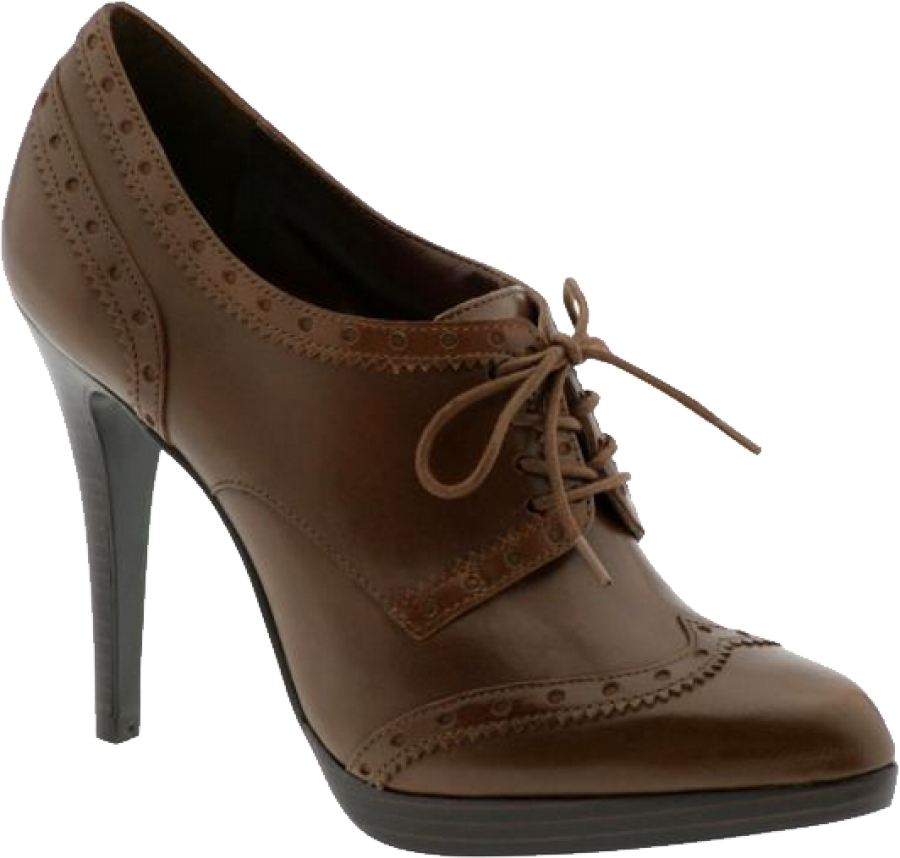 Chocolate Women Shoe PNG Image