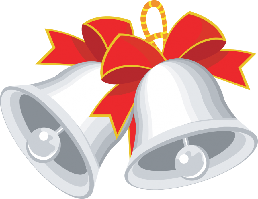 Christmas Bell with Ribbons PNG Image