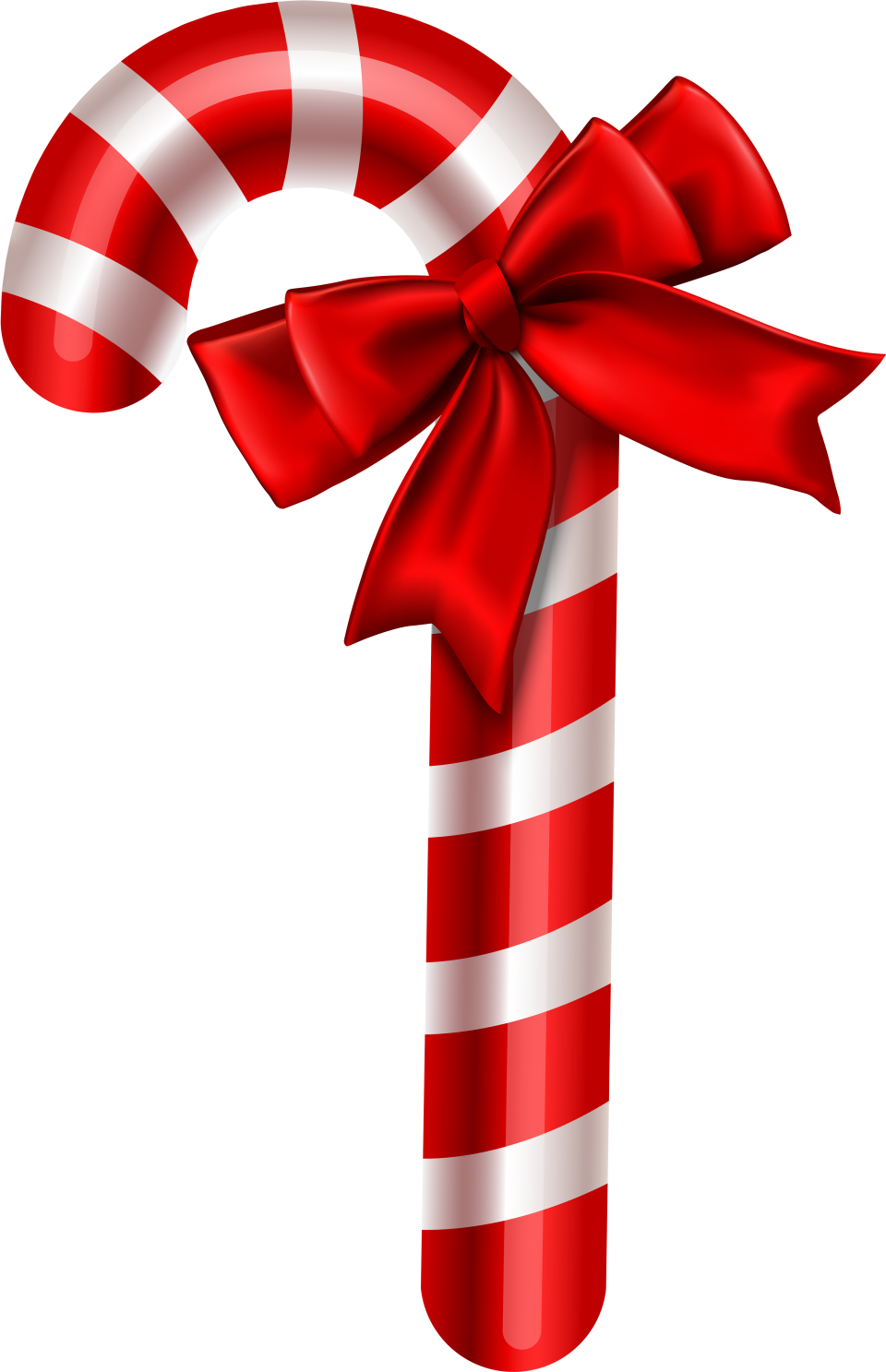Red White Striped Christmas Candy PNG Image