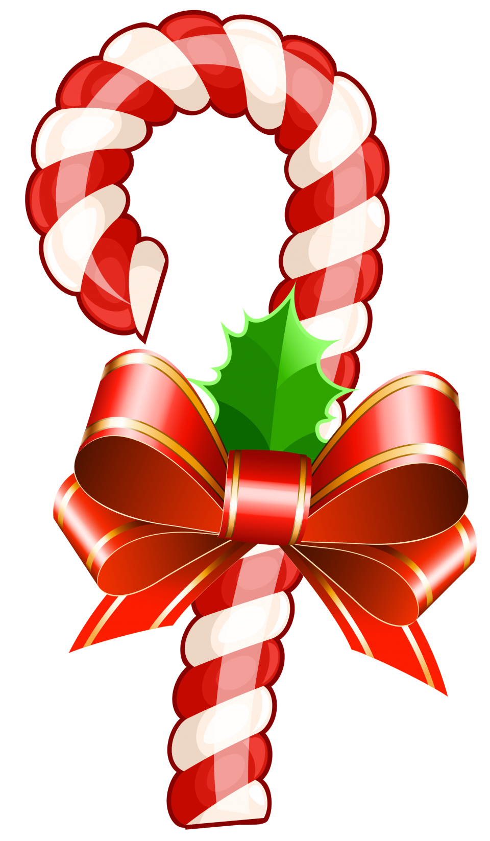 Festive Christmas Candy PNG Image