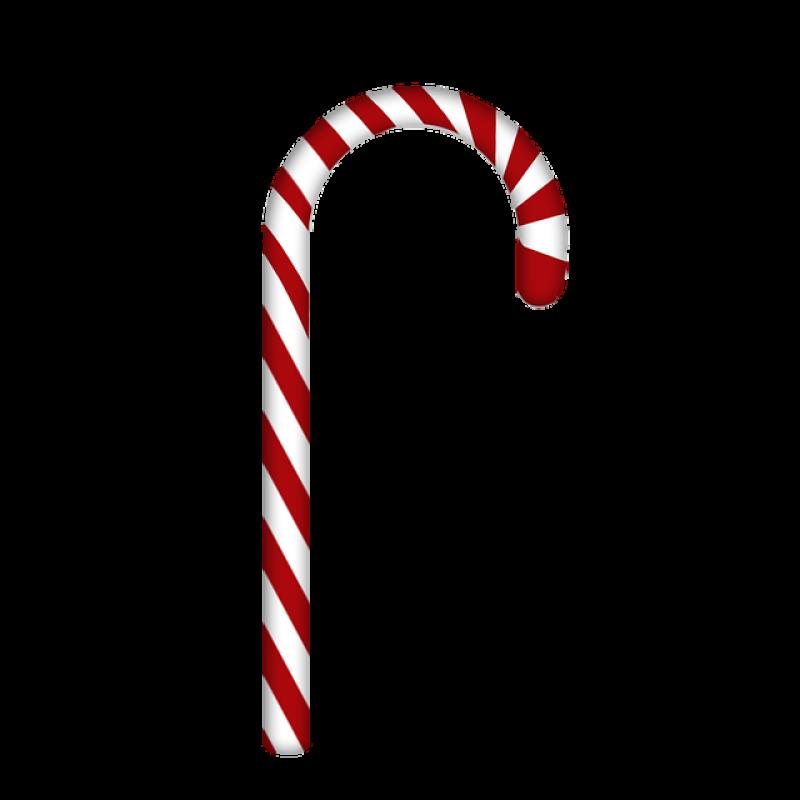 Christmas Sugar Cane PNG Image