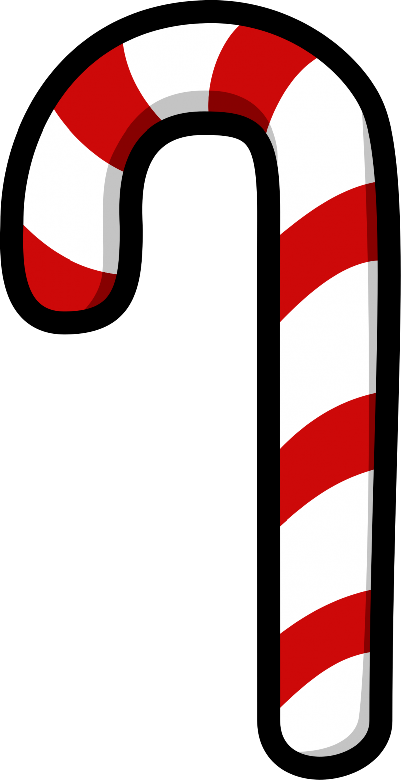 Striped Christmas Candy Cane PNG Image