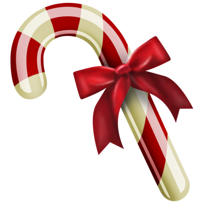Christmas Candy with Bow PNG Image