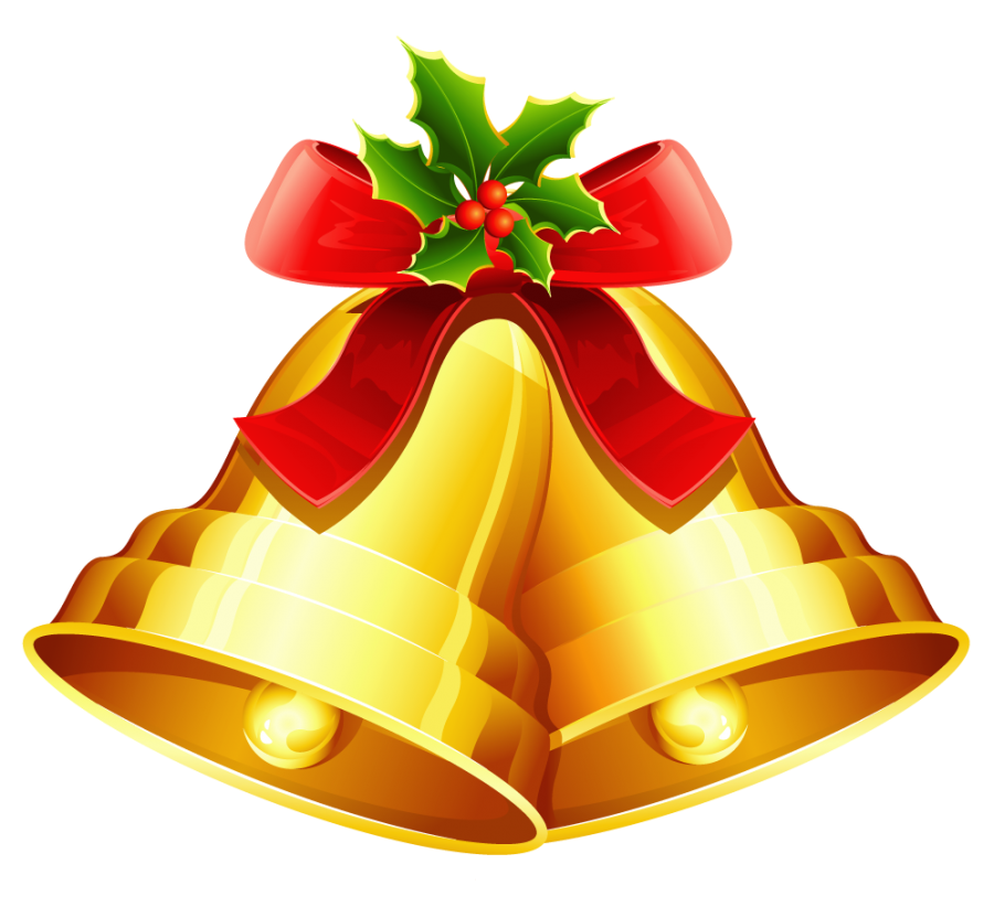 Christmas Bell Golden PNG Image