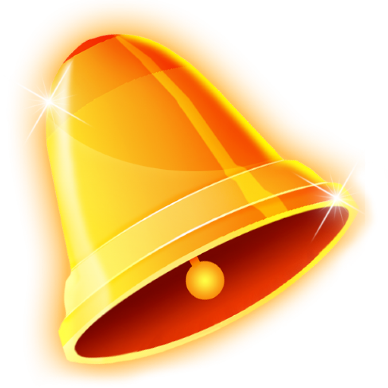 Golden Christmas Bell PNG Image