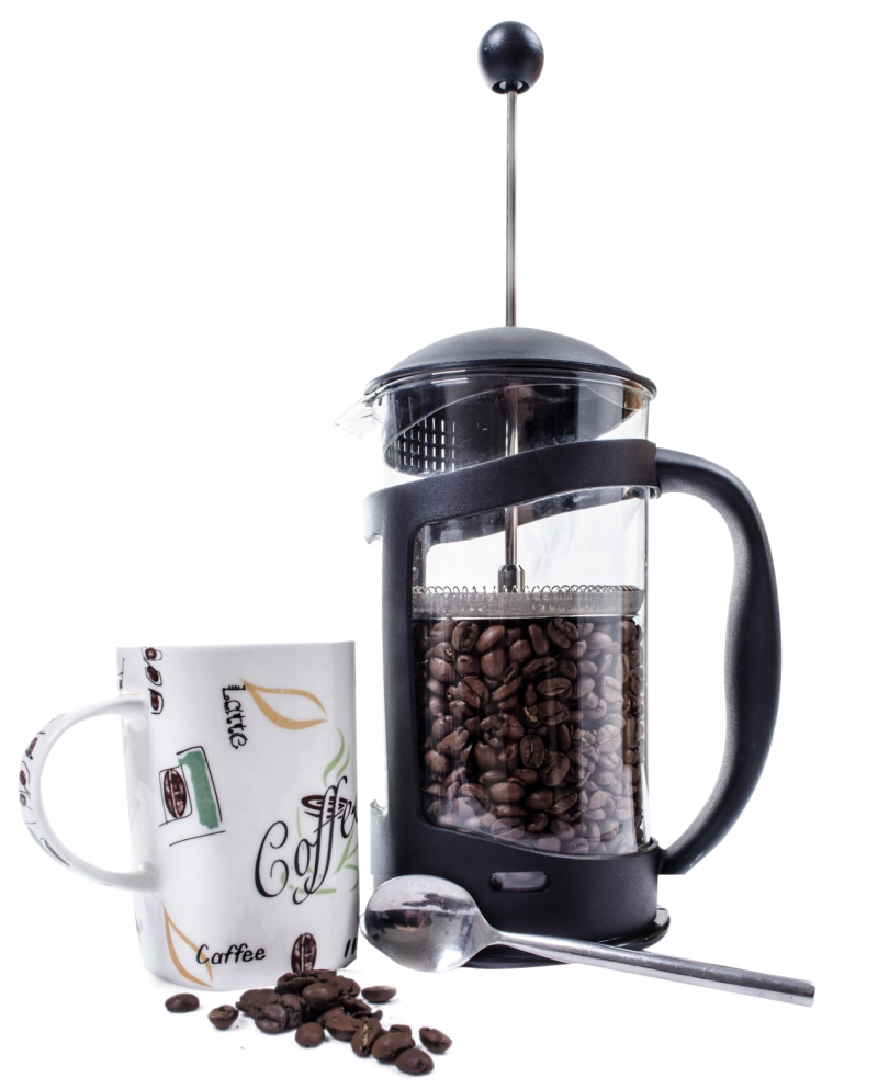 Coffee Grinder and Coffee Cup PNG Image