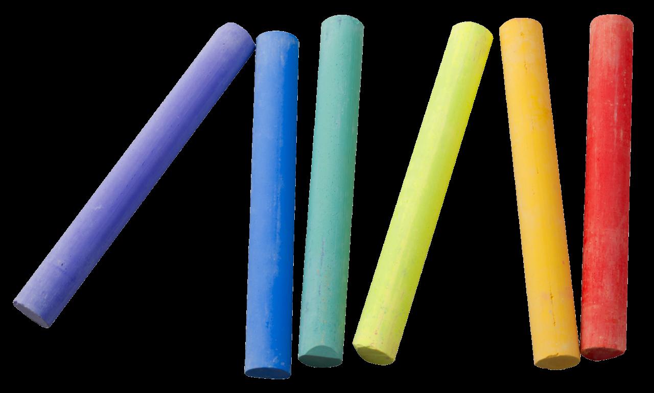 Color Chalk Piece PNG Image