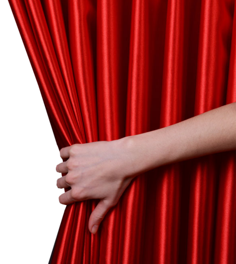 Hand Opening Curtain PNG Image