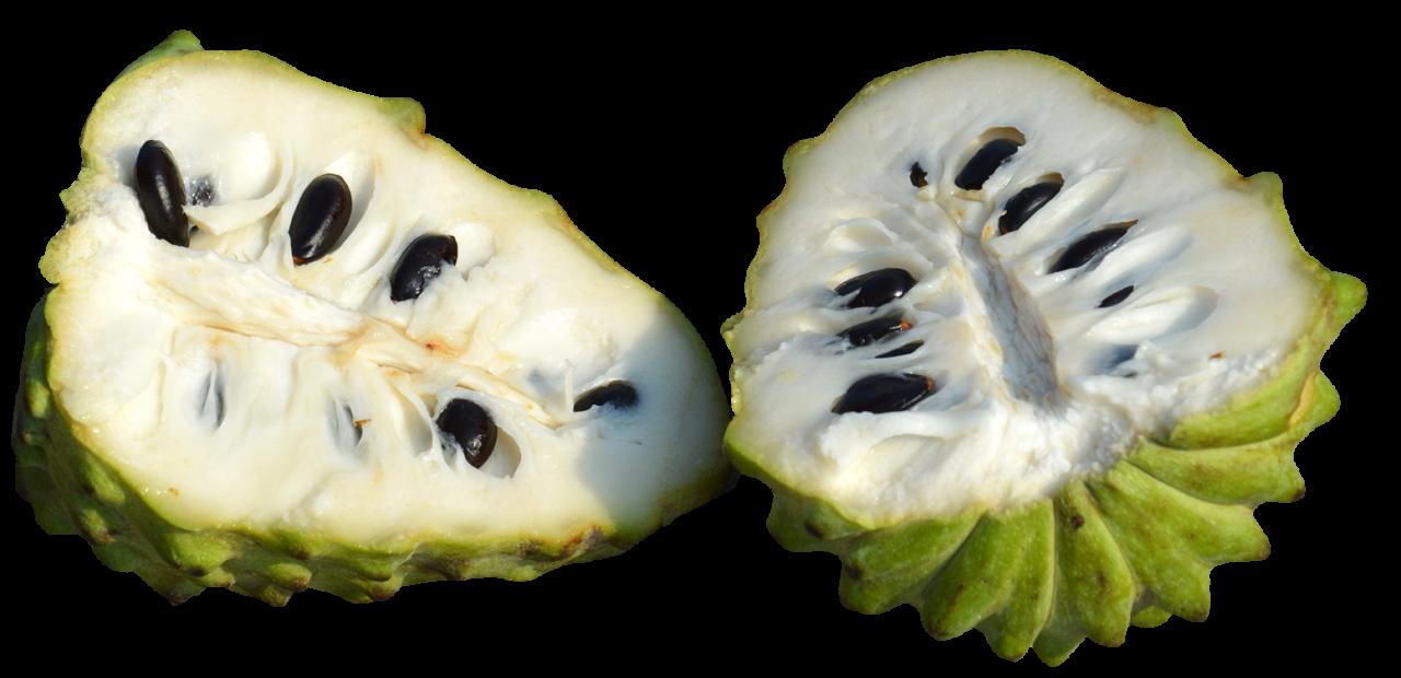 Custard Apples Sliced PNG Image