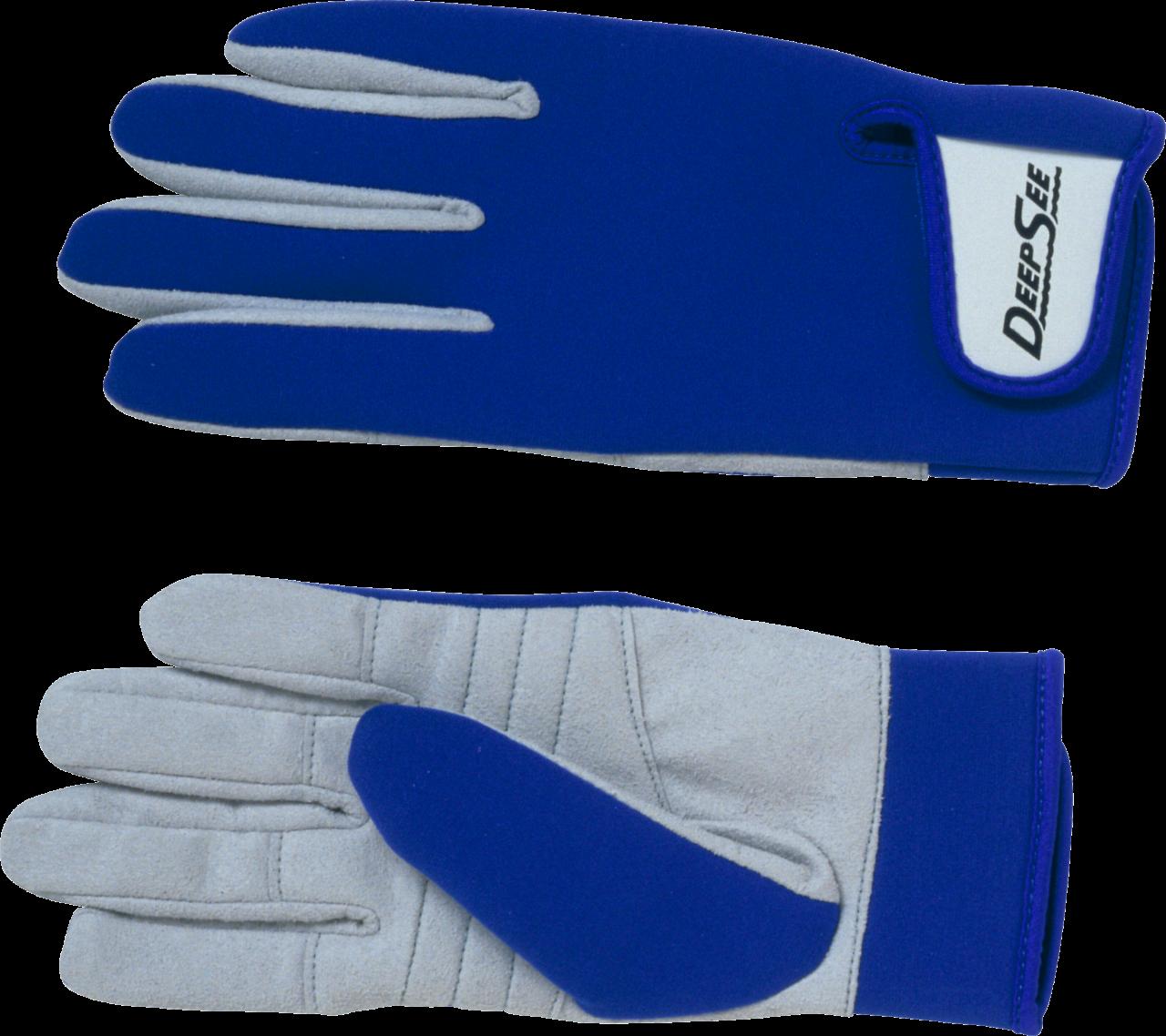 Deep See Blue Gloves PNG Image