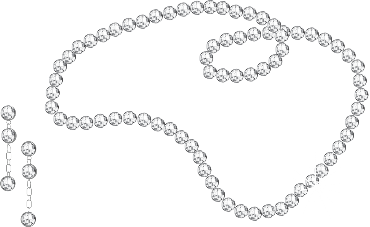 Diamond Necklace And Earrings PNG Image
