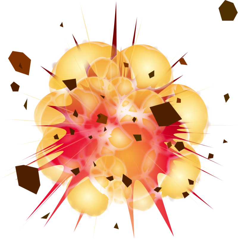 Big Cartoon Explosion PNG Image