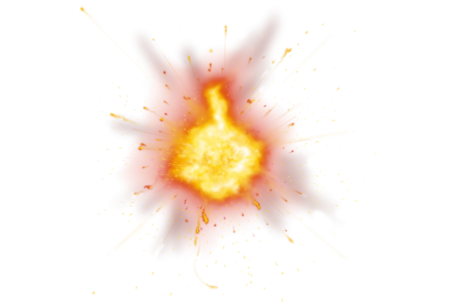 Dangerous Hot Fire Explosion PNG Image