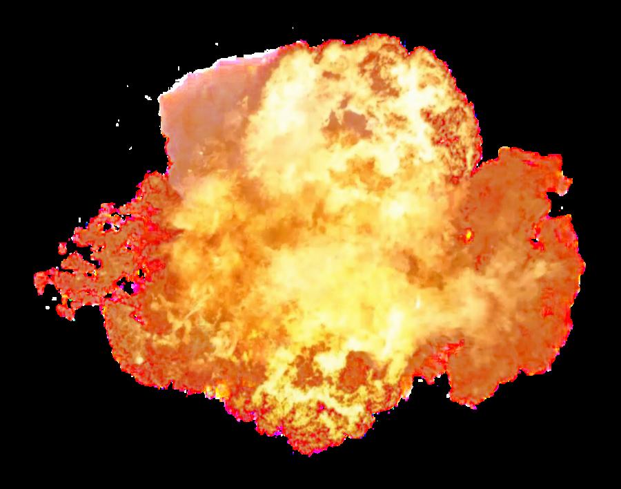 Hot Dangerous Fire Explosion PNG Image