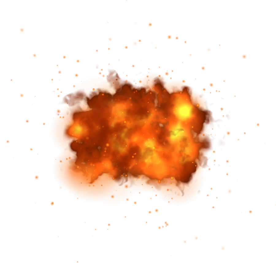 Spark Fire Explosion PNG Image