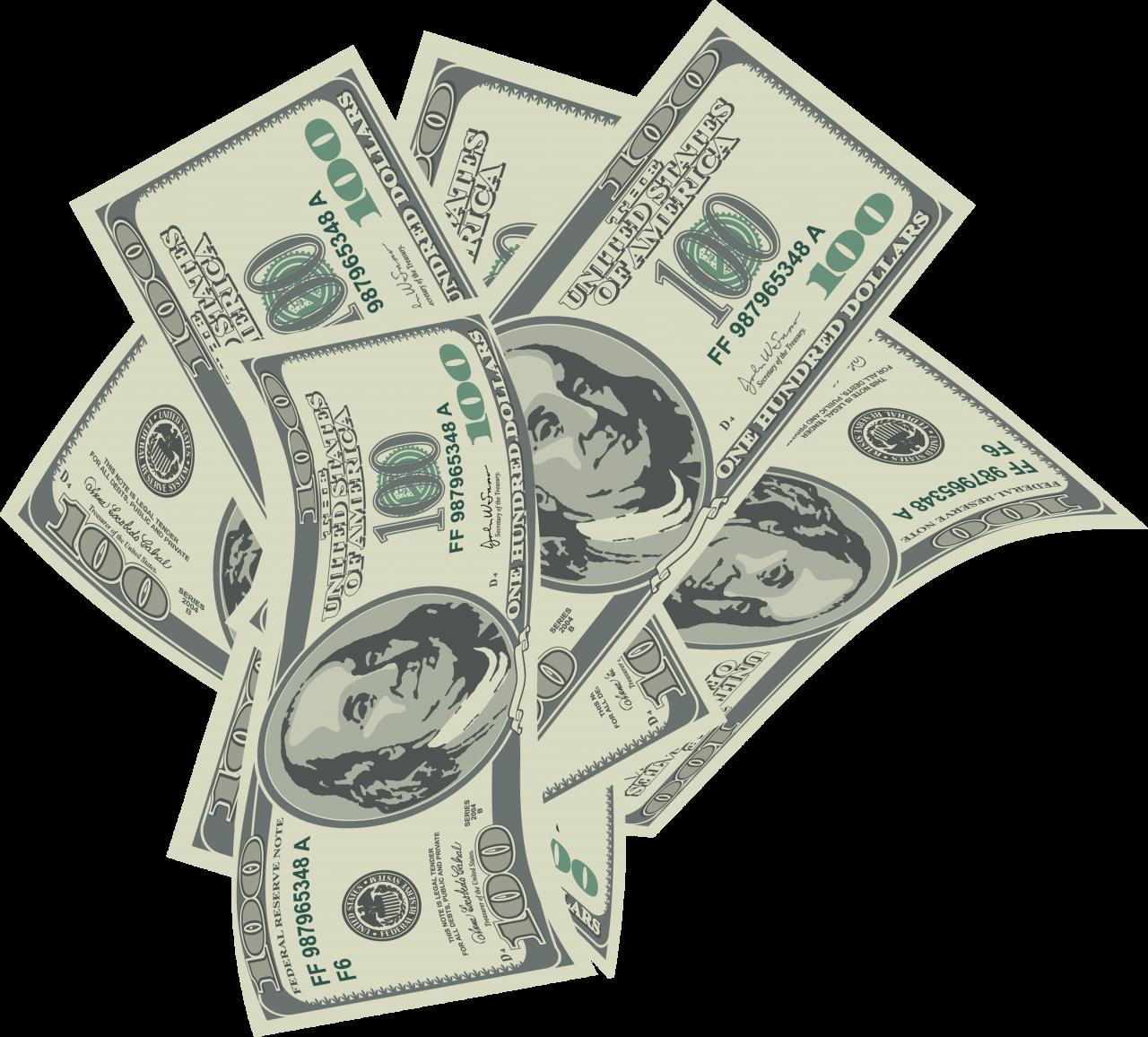 Falling Money PNG Image