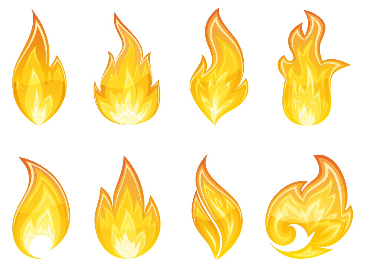 Flame Fire Collection PNG Image