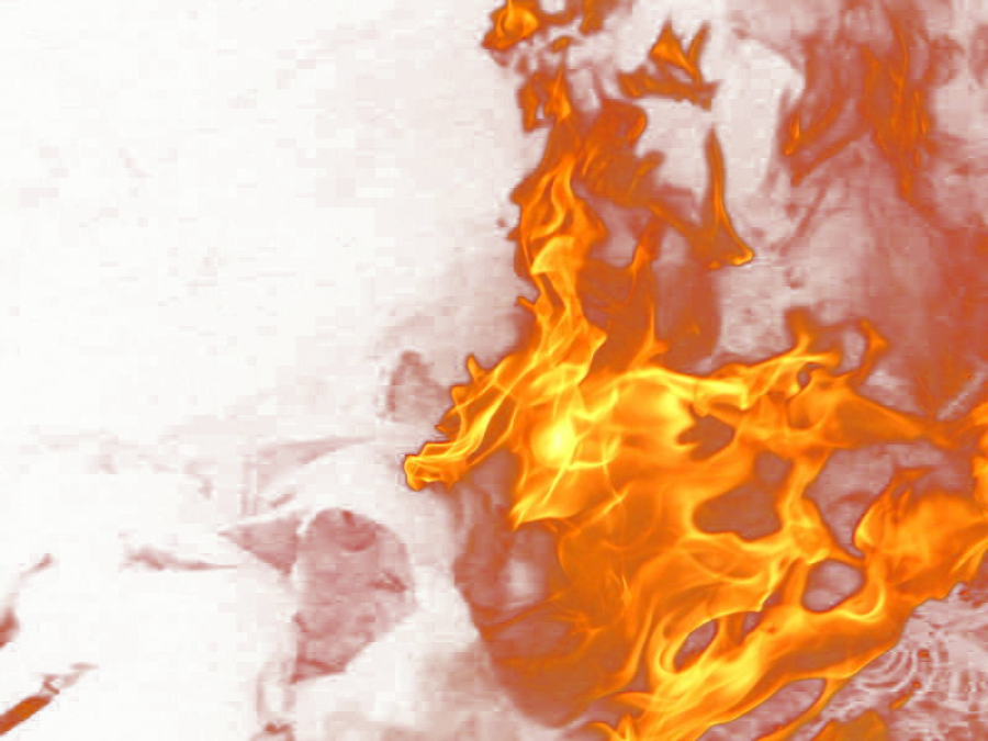 Fire Flame from the Side PNG Image