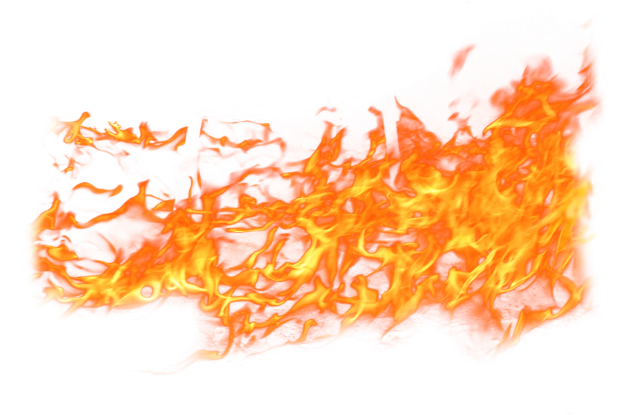 Spreaded Fire Flame  PNG Image
