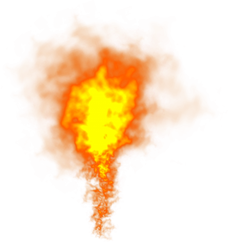 Bright Flame Fire PNG Image