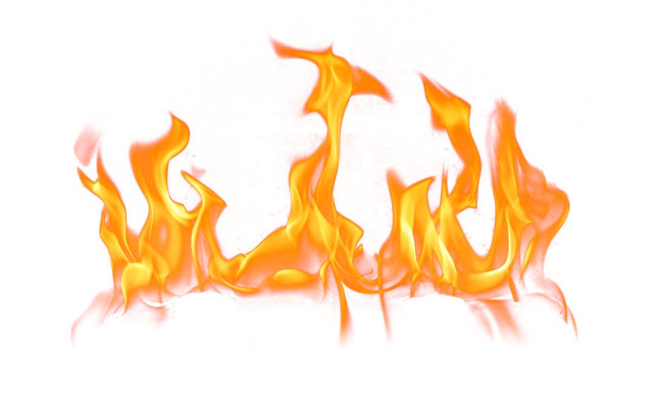 Small Fire with Flames PNG Image